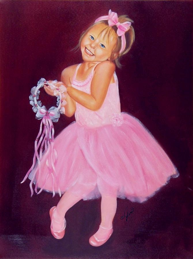 Portrait Painting - Happy Ballerina by Joni McPherson