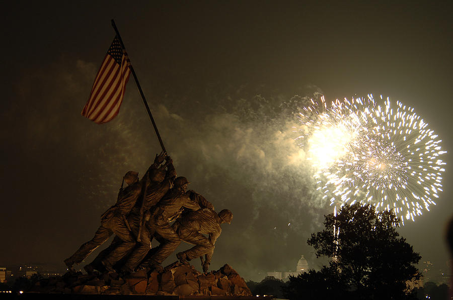 Fireworks Photograph - Happy Birthday America by John McGarity