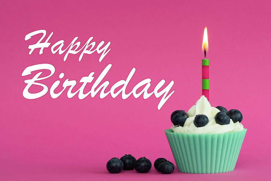 Cool Happy Birthday Cupcake Photograph By Oliver Peters Funny Birthday Cards Online Eattedamsfinfo