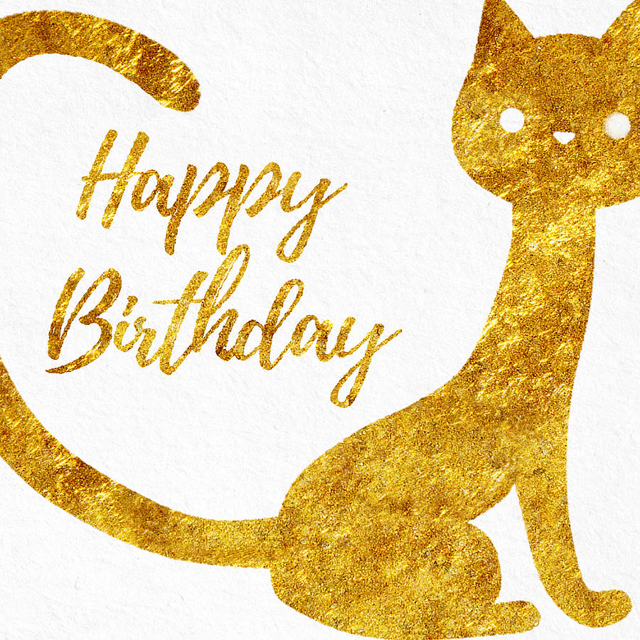 Happy Birthday For Cat Lovers Photograph by Sabine Jacobs