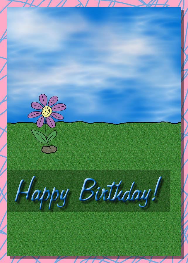 Happy Birthday Greeting Card Digital Art