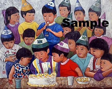 Kids Painting - Happy Birthday by Komi Chen