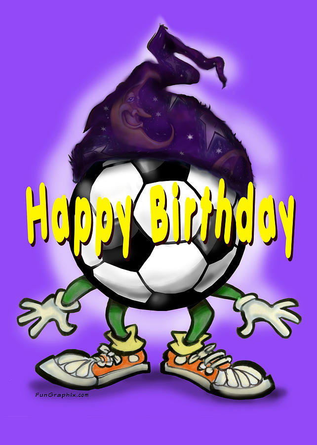 happy birthday soccer wizard greeting card by kevin middleton, Birthday card