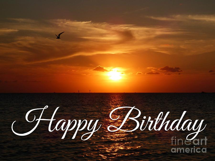 Happy Birthday Sunset by Jean Wright
