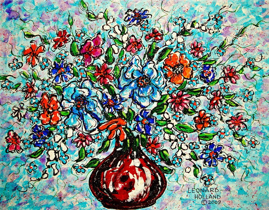 Impressionism Painting - Happy Bouquet by Leonard Holland