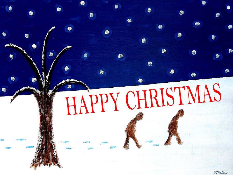 Christmas Painting - Happy Christmas 15 by Patrick J Murphy