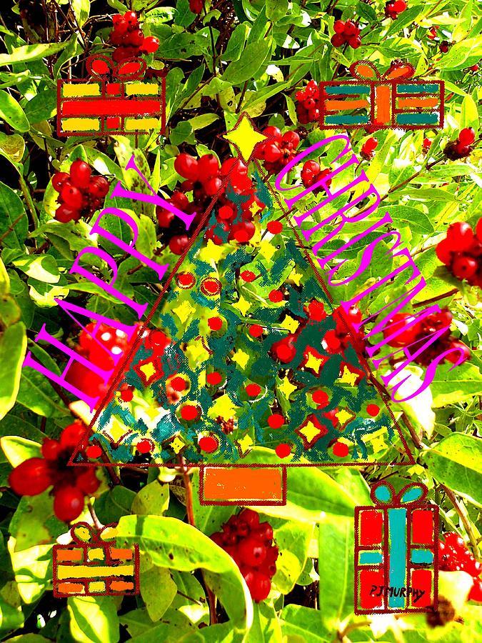 Christmas Painting - Happy Christmas 25 by Patrick J Murphy
