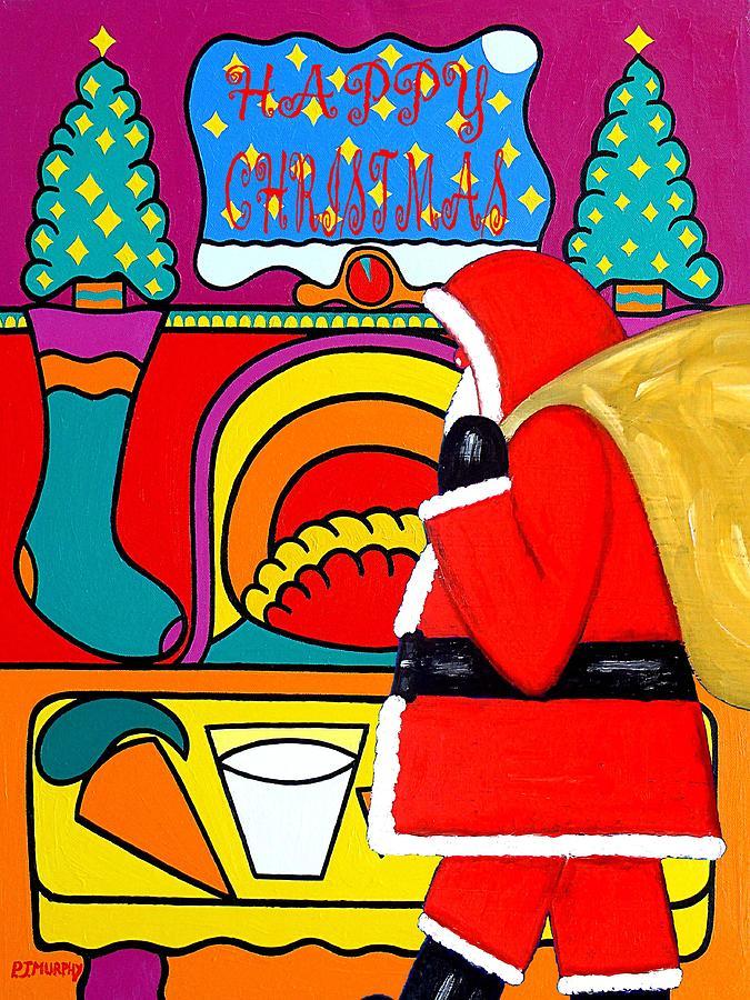 Christmas Painting - Happy Christmas 30 by Patrick J Murphy