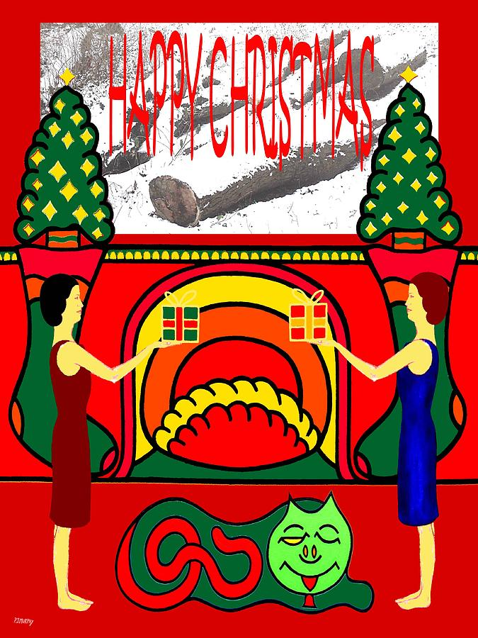 Christmas Painting - Happy Christmas 32 by Patrick J Murphy