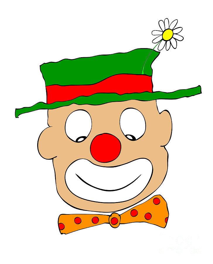 Clown Drawing - Happy Clown by Michal Boubin