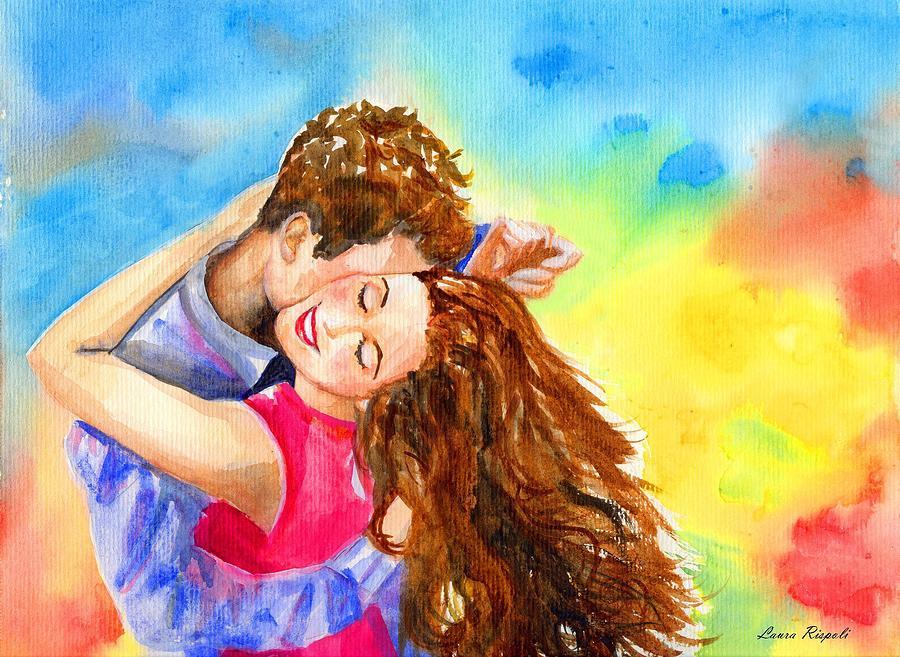Cheerful Painting - Happy Dance by Laura Rispoli