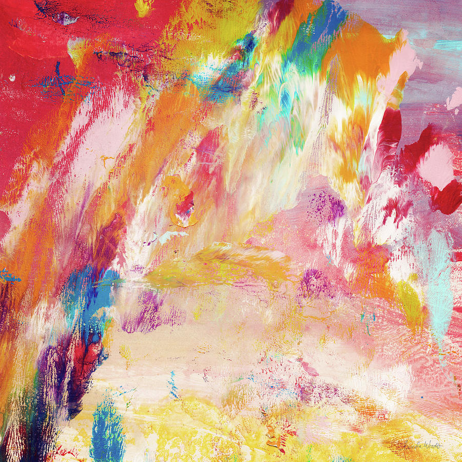 Abstract Painting Painting - Happy Day- Abstract Art By Linda Woods by Linda Woods