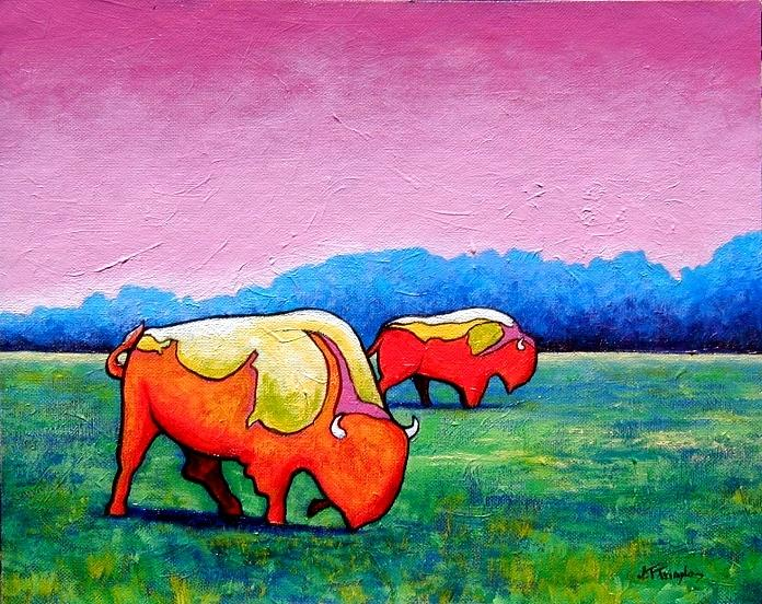 Wildlife Painting - Happy Days by Joe  Triano