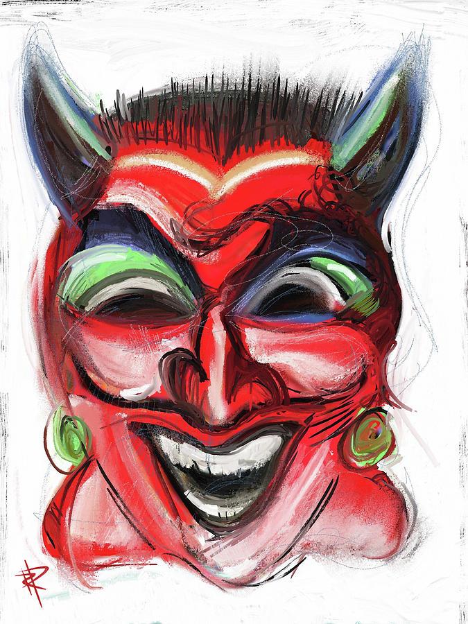 Devil Mixed Media - Happy Devil by Russell Pierce