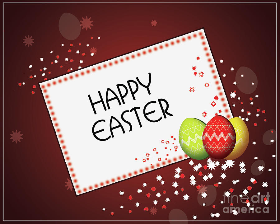Happy Easter Card 1 by Scott Parker
