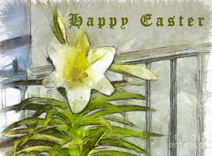 Easter Photograph - Happy Easter Lily by Claire Bull