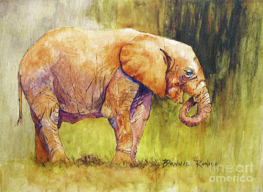 Happy Elephant by BONNIE RINIER