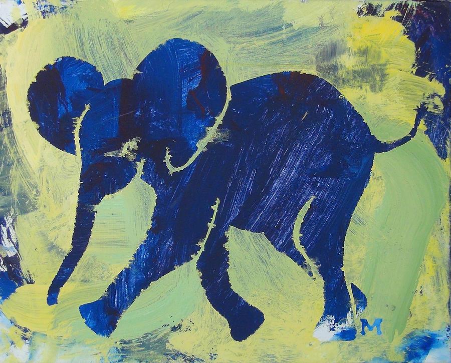 Elephant Painting - Happy Elephant by Candace Shrope