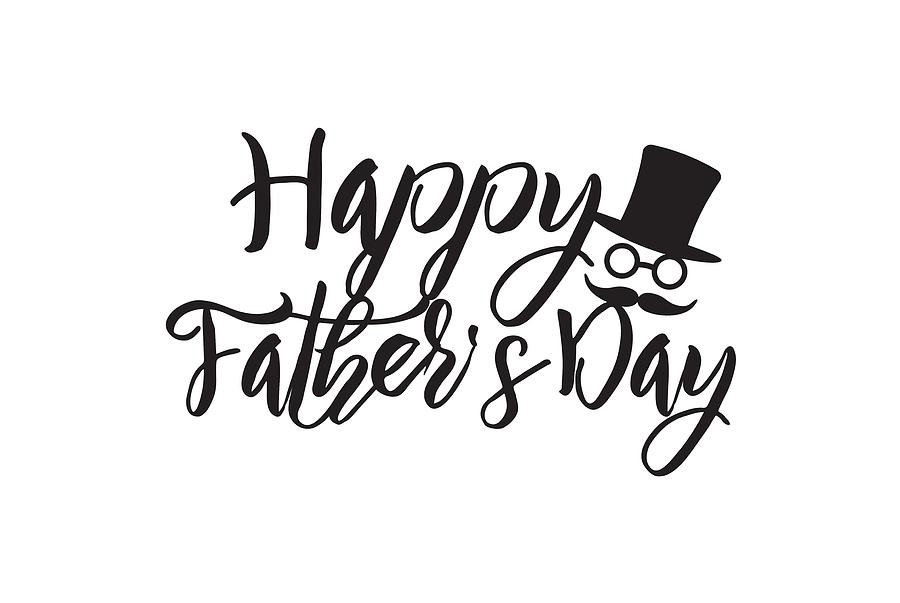 Fathers day calligraphy text illustration photograph by jit lim