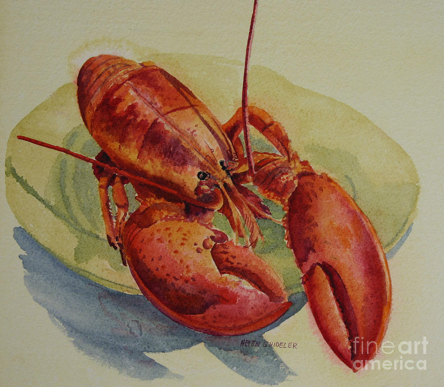 Lobster Painting - Happy Fathers Day by Helen Shideler