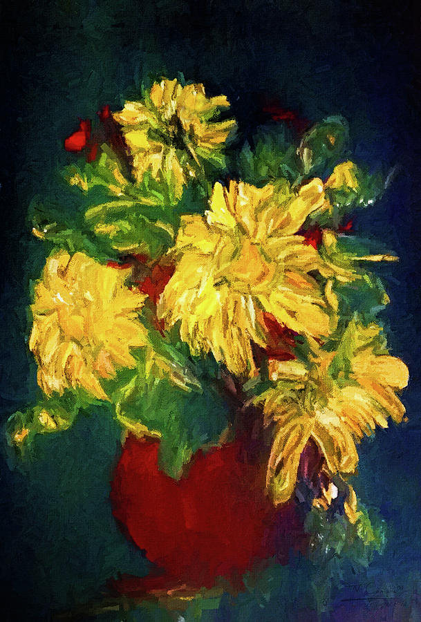 Happy Floral Still Life Painting
