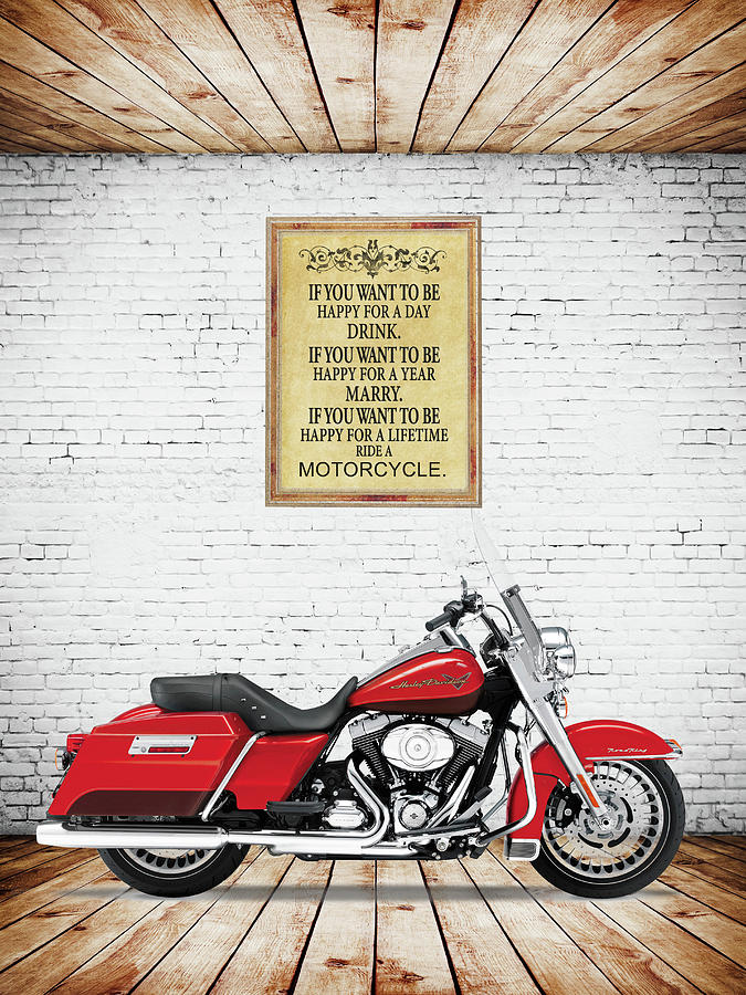 Harley Davidson Photograph - Happy For A Lifetime by Mark Rogan