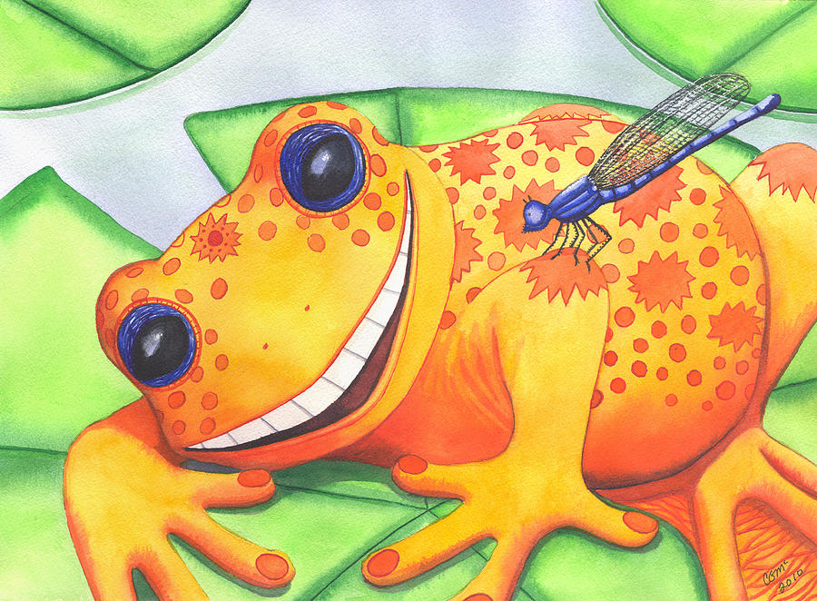 Happy Frog Painting by Catherine G McElroy