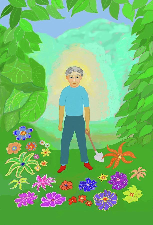 Happy Garden Digital Art - Happy Garden by Fred Jinkins