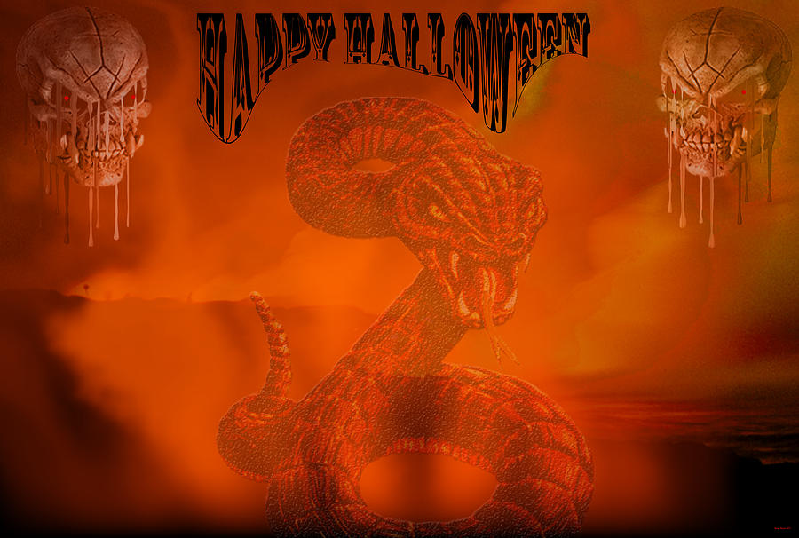 Holiday Digital Art - Happy Halloween 2 by Evelyn Patrick