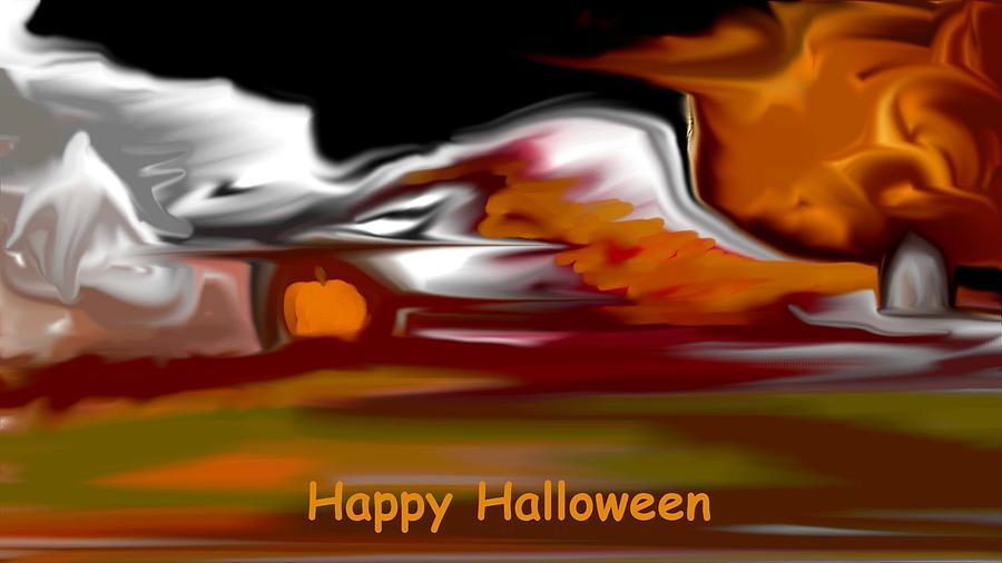 Light Digital Art - Happy Halloween by David Lane