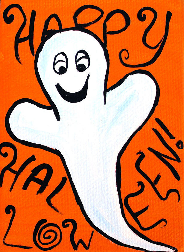 Happy Painting - Happy Halloween Ghost by Jera Sky
