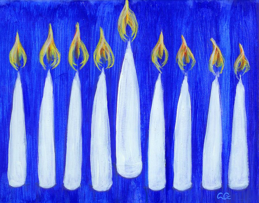 Faith Painting - Happy Hanukkah by BlondeRoots Productions