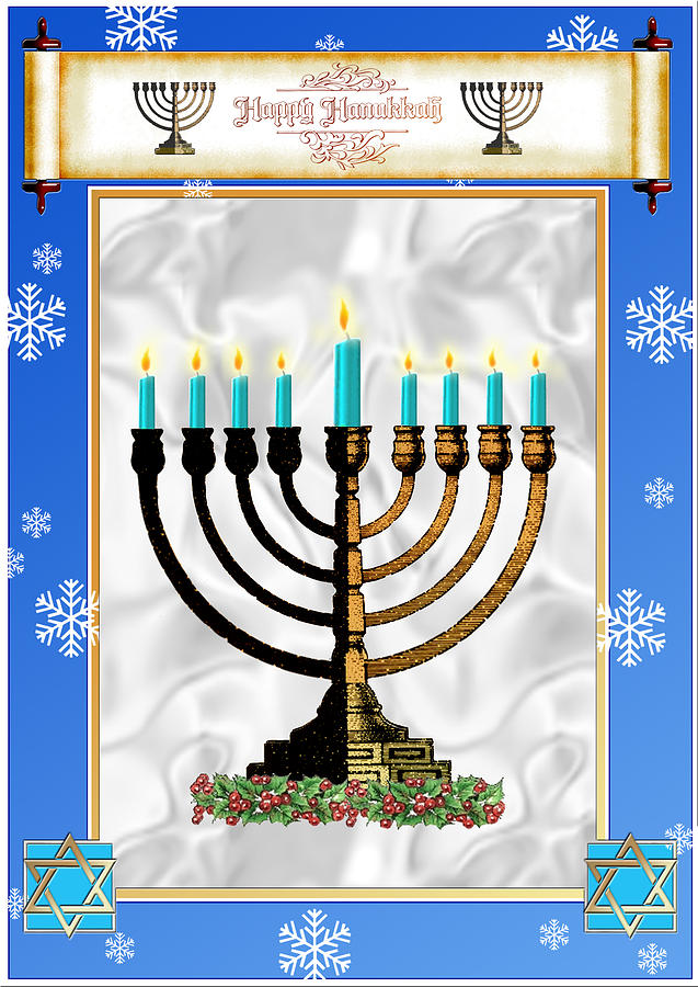 Hanukkah Digital Art - Happy Hanukkah by Melissa A Benson