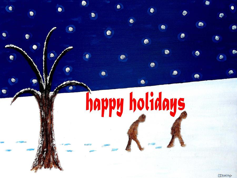 Christmas Painting - Happy Holidays 5 by Patrick J Murphy