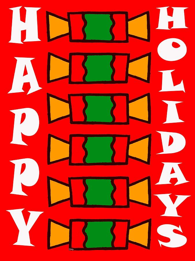 Christmas Painting - Happy Holidays 7 by Patrick J Murphy