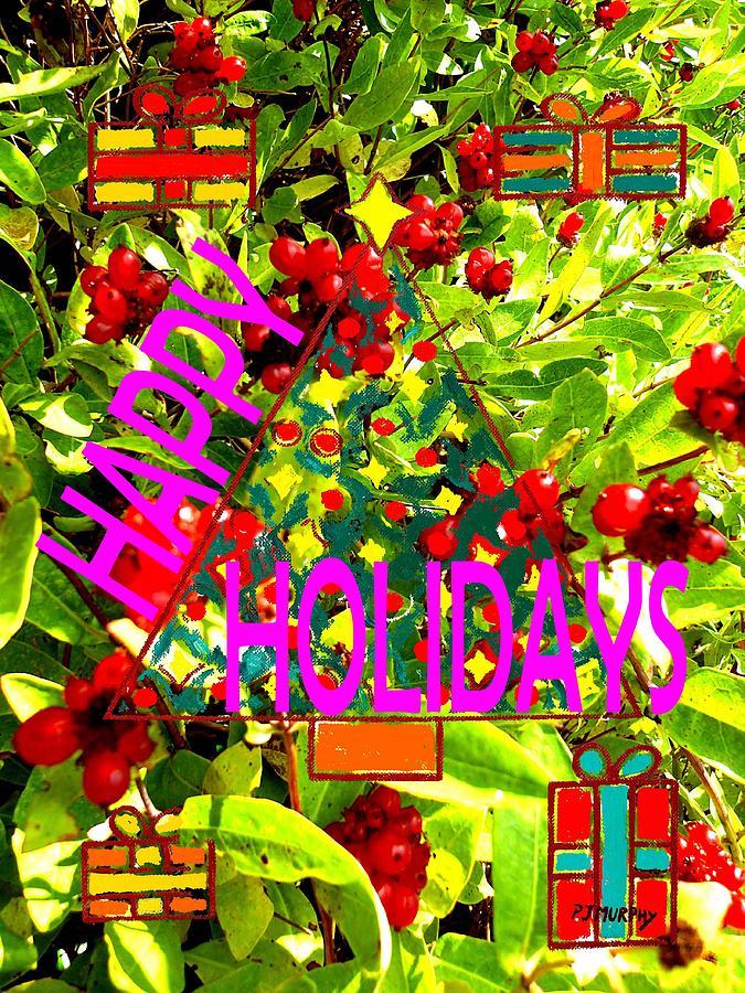 Prints Painting - Happy Holidays 9 by Patrick J Murphy