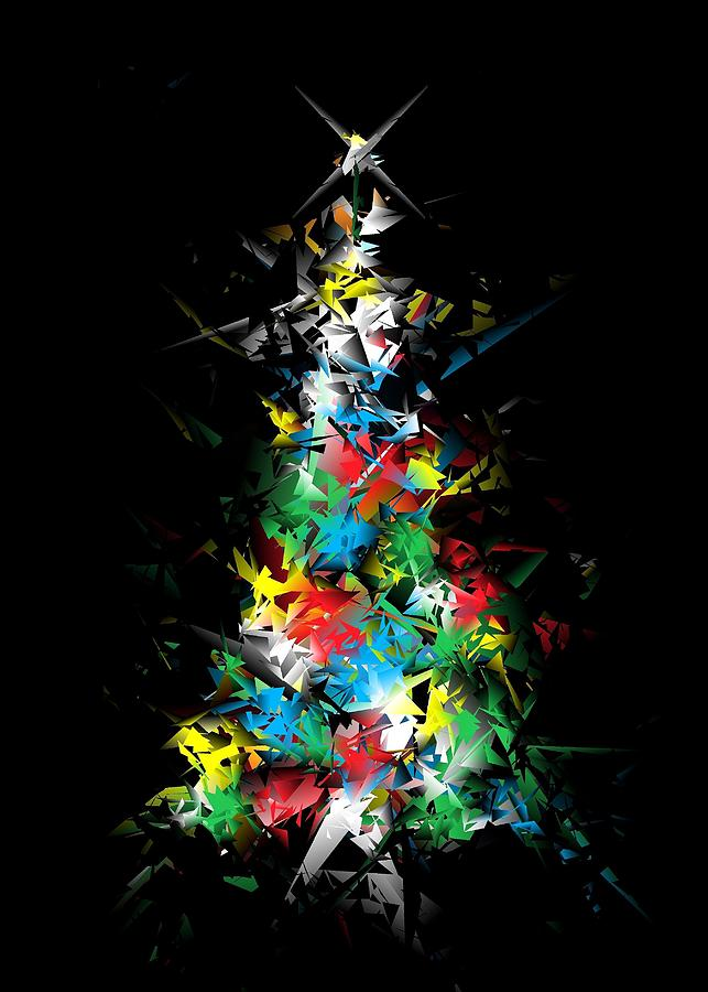 Happy Holidays - Abstract Tree - vertical by Ludwig Keck