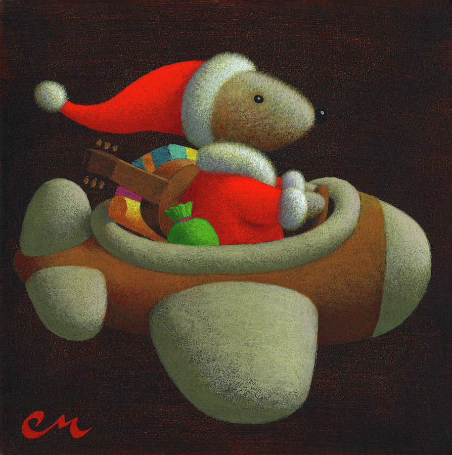 Christmas Painting - Happy Holidays by Chris Miles