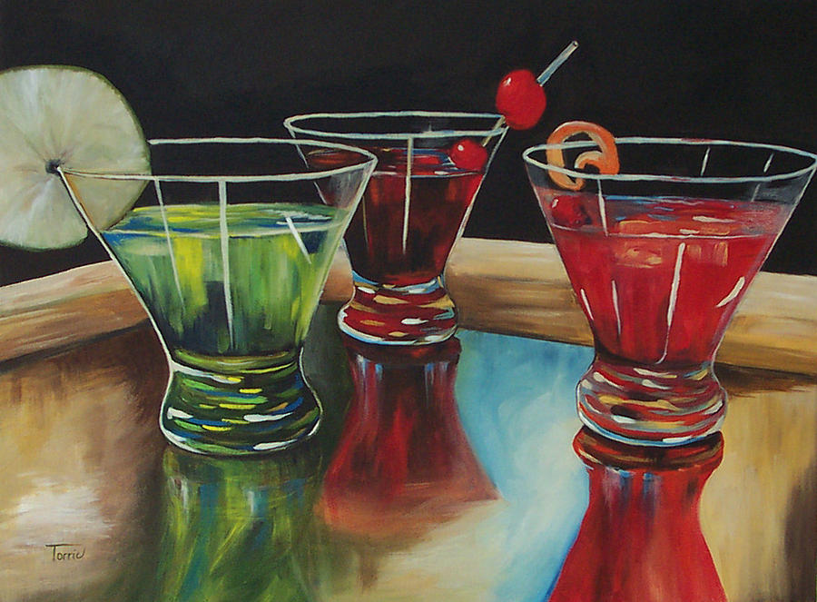 Cosmopolitan Painting - Happy Hour 2007  by Torrie Smiley