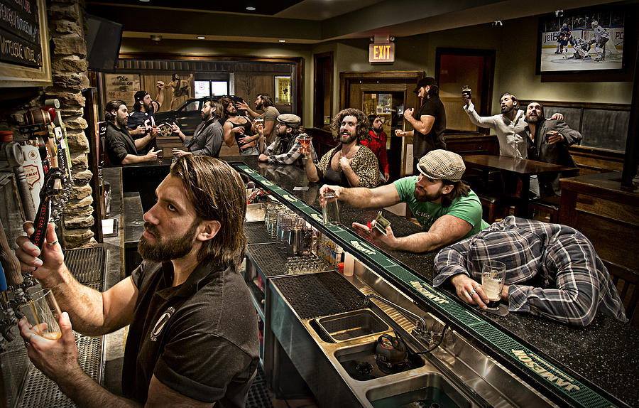 Bar Photograph - Happy Hour by Anthony Benussi