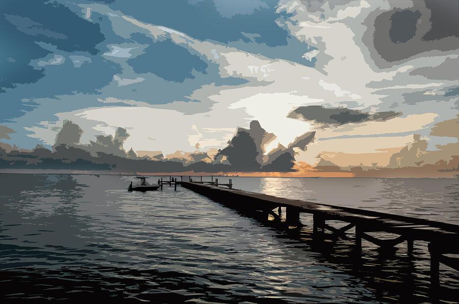 Seascape Digital Art - Happy Hour by Norman Johnson