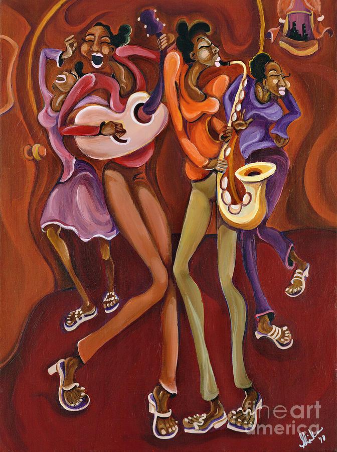 Fun Painting - Happy Hour by Sharika Mahdi