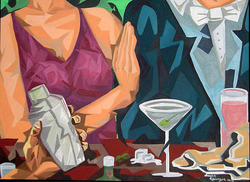 People Painting - Happy Hour by Susan Clausen