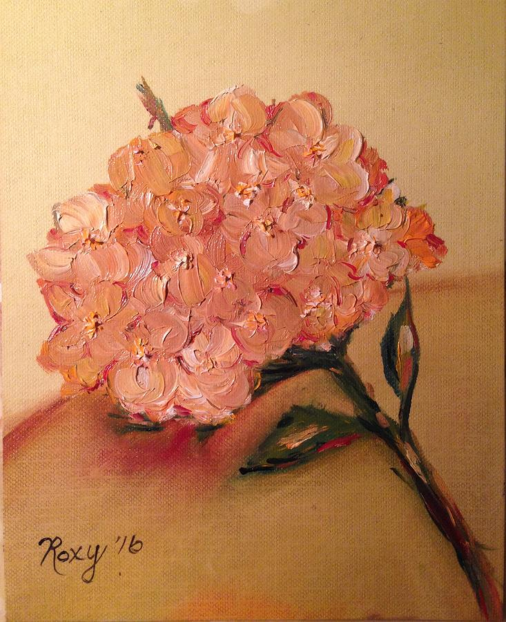 Temecula Painting - Happy Hydrangea  by Roxy Rich