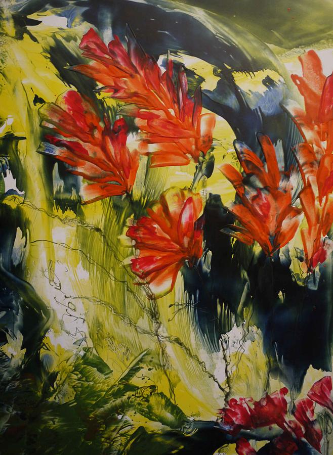 Flowers Painting - Happy In June  by Heather Hennick