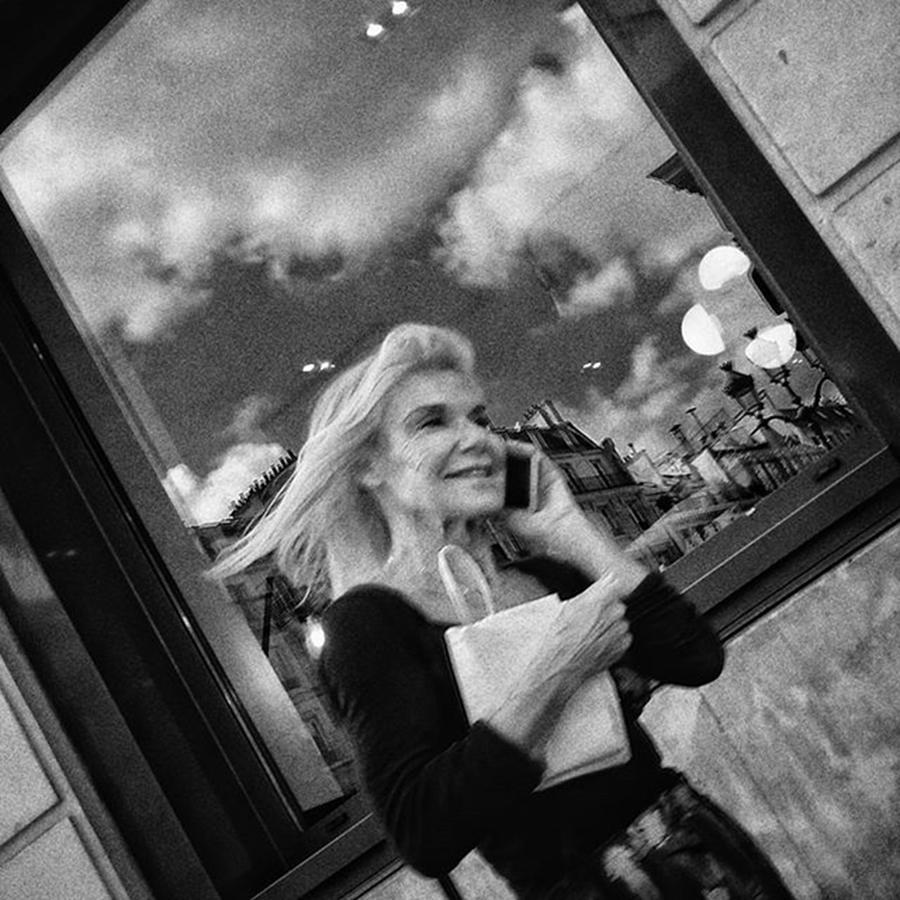 Blackandwhite Photograph - Happy Lady  #woman #portrait #people by Rafa Rivas