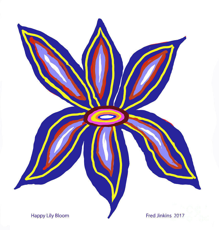Lily Bloom Digital Art - Happy Lily Bloom by Fred Jinkins
