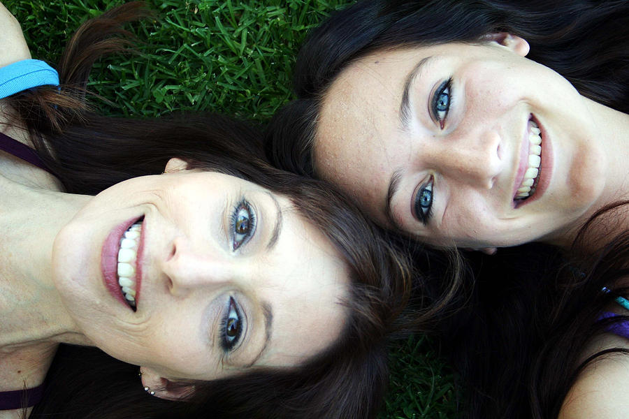 Happy Mom And Daughter Photograph