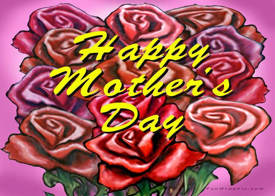 Mom Painting - Happy Motherers Day by Kevin Middleton