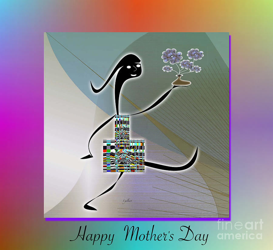 Drawing Digital Art - Happy Mothers Day   2 by Iris Gelbart